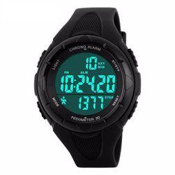 Мъжки LED цифров часовник с крачкомер