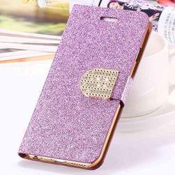 Husa stralucitoare pentru  iPhone 5, 5S, 6, 6S, 6 plus, 7, 7 plus a Samsung galaxy S6 edge, S6, S7, S7 edge si S6 edge plus Violet-pentru iPhone 5 5s