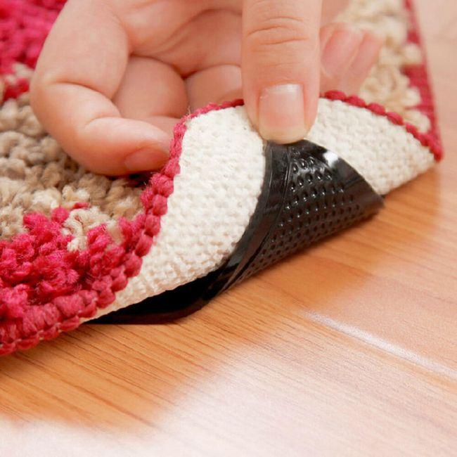 Csúszásmentes szőnyeg alátét fekete - 4 darab 1