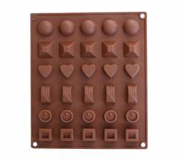 Silikonová forma na výrobu čokolády - hnědá