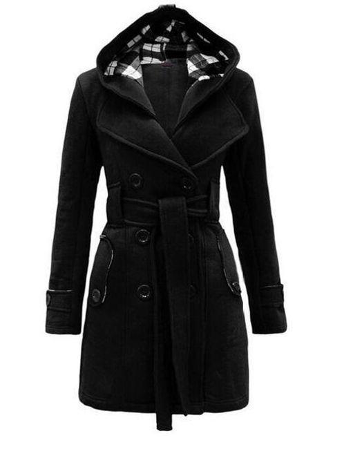 Dámská kabátová mikina Silvia s kapucí a páskem - 2-velikost č. S 1