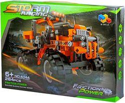 Stavebnice Auto velká kola funkční set 284 dílků v krabici plast SR_417914