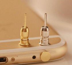 Prachotěsná krytka pro 3,5 mm audio slot - zlatá/stříbrná barva