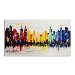Bezrámový obraz 120 x 60 cm - Barevné město