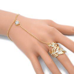 Náramok spojený s prsteňom