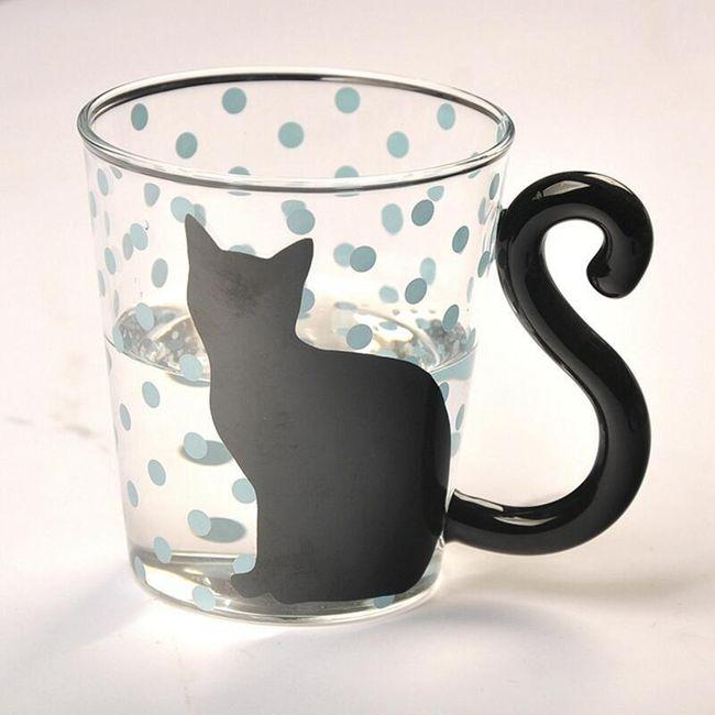Skleněný hrneček s kočičkou - 4 varianty 1