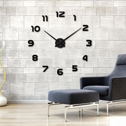 Duży zegar ścienny 3D - czarny kolor