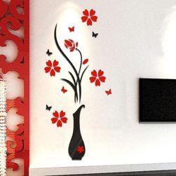 Стикер за стена - ваза с цветя