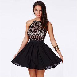 Dámské šaty s odhalenými zády s černou sukní - 3 velikosti
