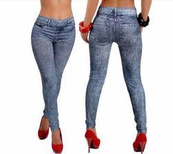 Női kék farmer hatású leggings
