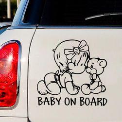 Sticker auto - BABY ON BOARD - 2 culori