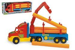Auto Super Truck stavebné náves s rukou a rúrami Wader 76cm asst 2 farby v krabici RM_89036540