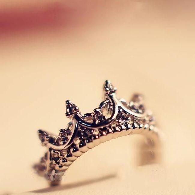 Prstan v obliki kraljevske krone - 7 velikosti 1
