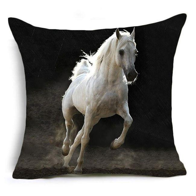 Prevleka za blazino s sliko konja 1