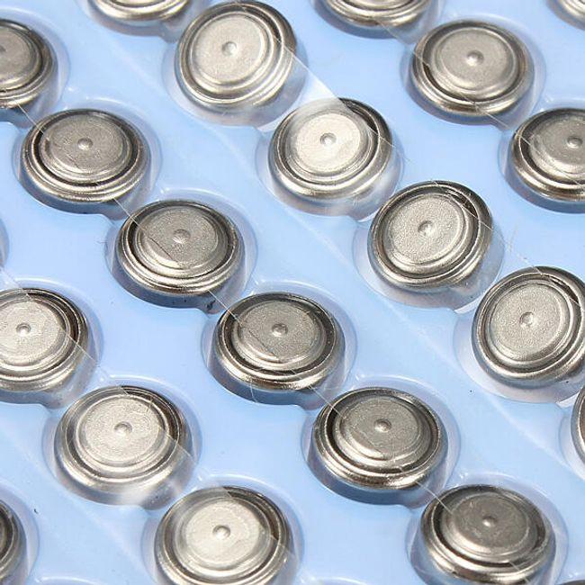 100ks Alkalická knoflíková baterie AG3/LR41/392A 1
