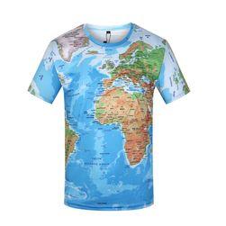 Férfi póló térkép témával