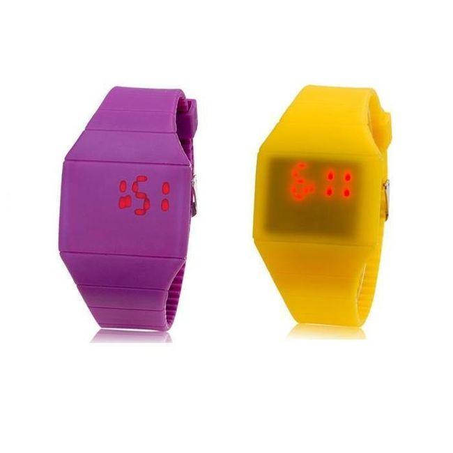 Silikonové hodinky s dotykovým LED displejem - ve 2 barvách 1