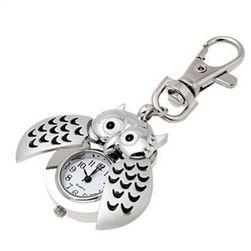 Brelok do kluczy - sowa z zegarkiem