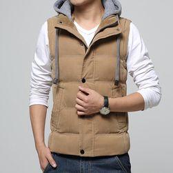 Pánská vesta s odnímatelnou kapucí - různé barvy