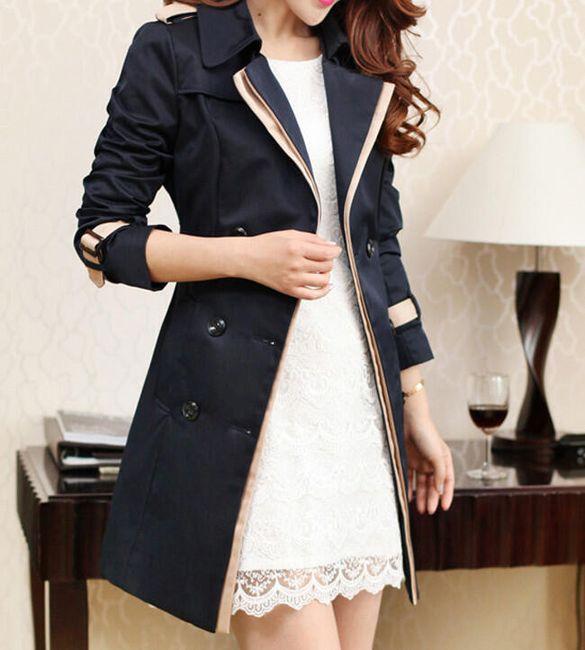 Elegantní podzimní kabát 1