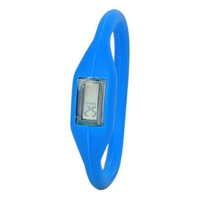 Cyfrowy silikonowy zegarek ION - Niebieski 1