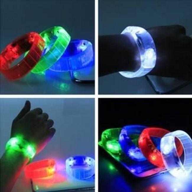 Hanggal reagáló LED-es karkötő partikhoz 1