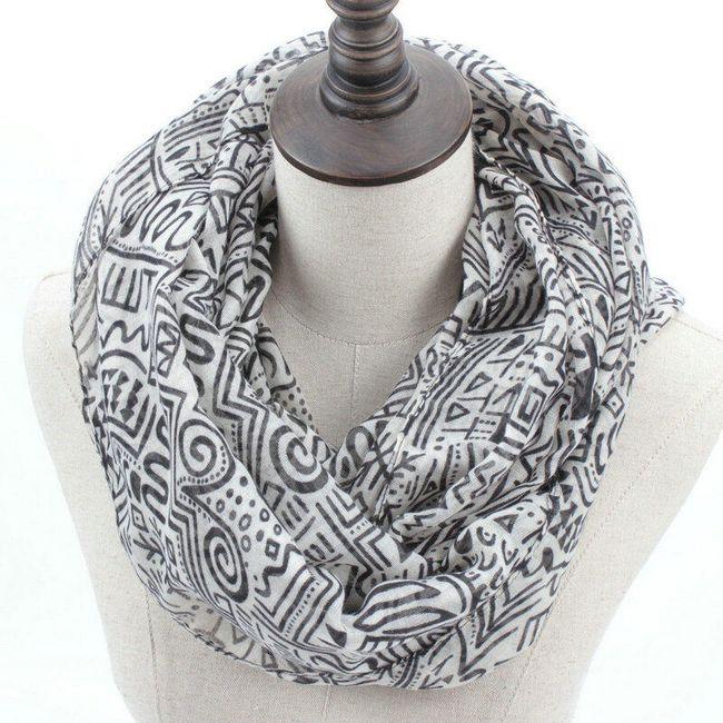 Dámský šátek s ornamenty - 3 barvy 1