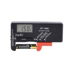 Tester negru pentru baterii - afișaj digital