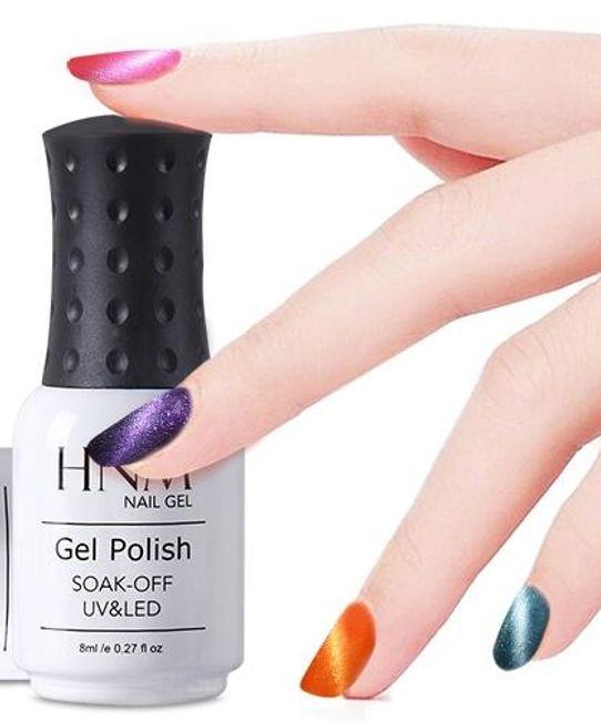 UV / LED dolgotrajen kovinski gel lak - več barv 1