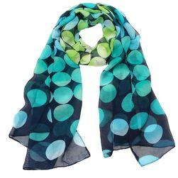 Дамски шал с точки в цветовете на дъгата