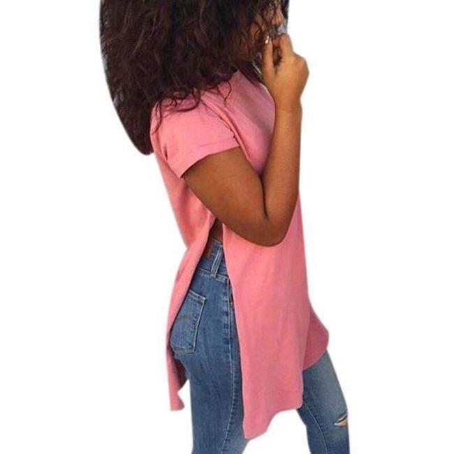 Dámské tričko s postranními rozparky - 4 barvy 1