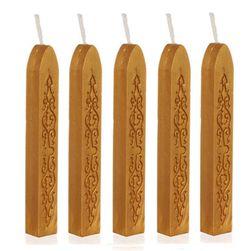 Pečetní vosk ve zlaté barvě - 5 kusů