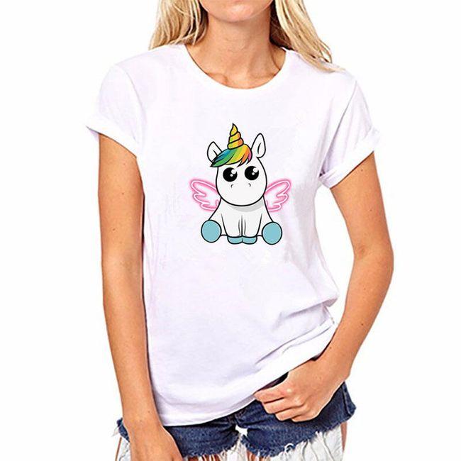 Dámské tričko s jednorožcem - 26 variant 1