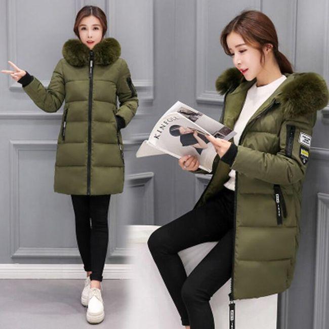 Dámská zimní bunda Alexia - Tmavě zelená-L 1