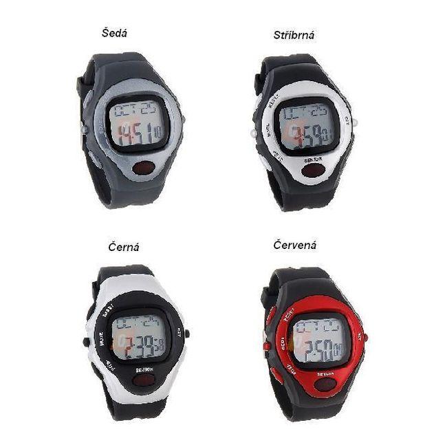 Sportovní digitální hodinky s tepovým senzorem ve 4 barvách 1