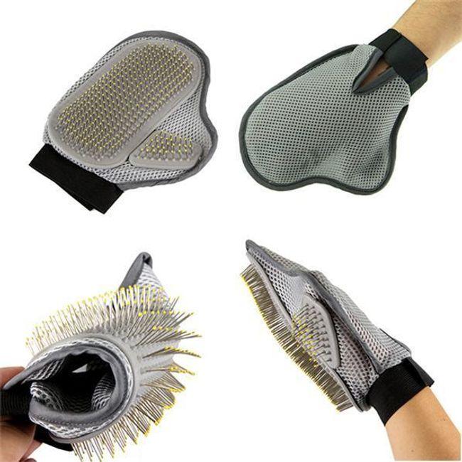 Щетка-перчатка для вычесывания собак 1