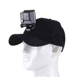 Kapa sa držačem za GoPro - crna boja