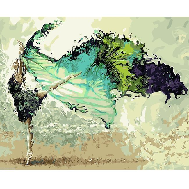 Живопись по номерам- Танцовщица  1