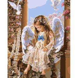 Bezramowy obraz z aniołem