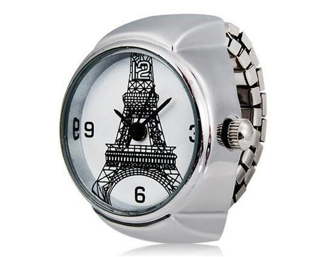 Pierścionkowy zegarek z wieżą Eiffla 1