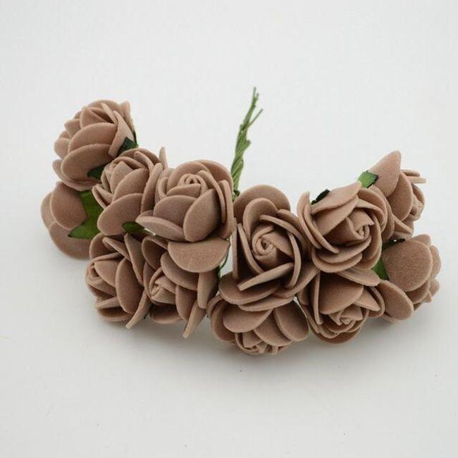 Mini ruže od pene - 17 boja 1