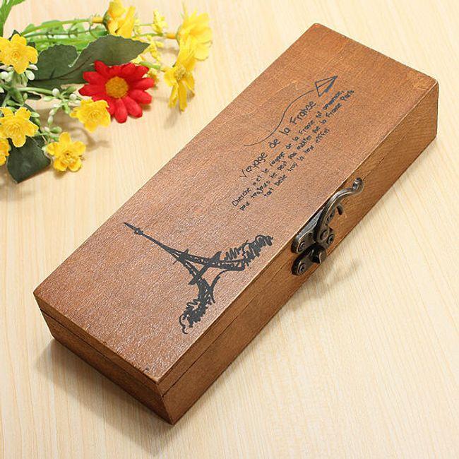 Drewniane pudełeczko z wieżą Eiffla 1