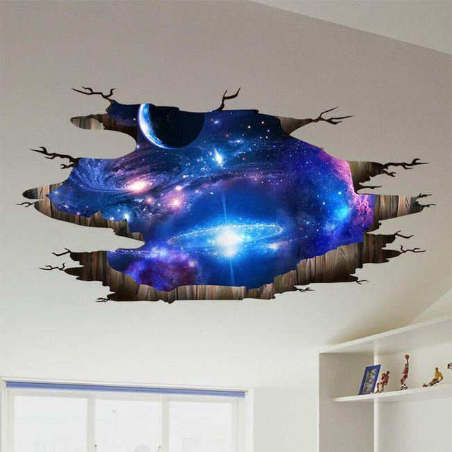 Autocolant de perete - proiecție a galaxiei 1