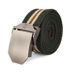 Plátěný pánský pásek s kovovou přezkou
