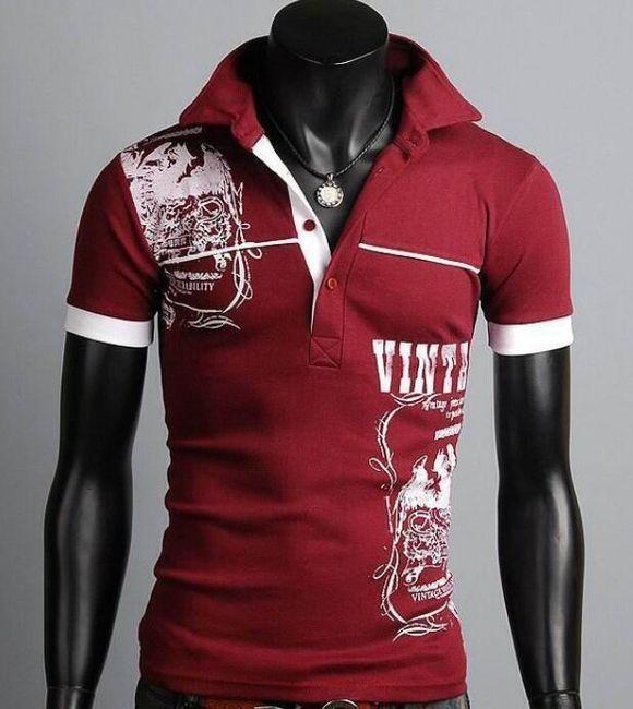 Męska koszulka polo z nadrukiem - 3 kolory, 4 rozmiary 1