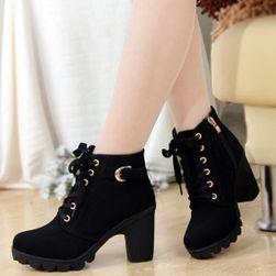 Női magassarkú őszi cipő - 3 szín Fekete - 22,5 cm (mér. 35)