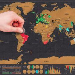 Törölje a világtérképet a falon - 82,5 x 59,5 cm
