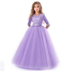 Obleka za deklice - vijolična 6