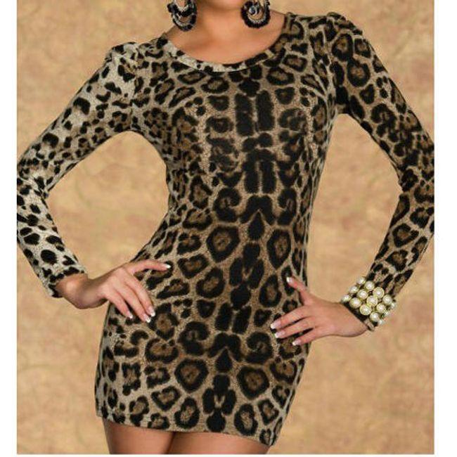 Elegancka mini sukienka  z wzorem lamparta 1