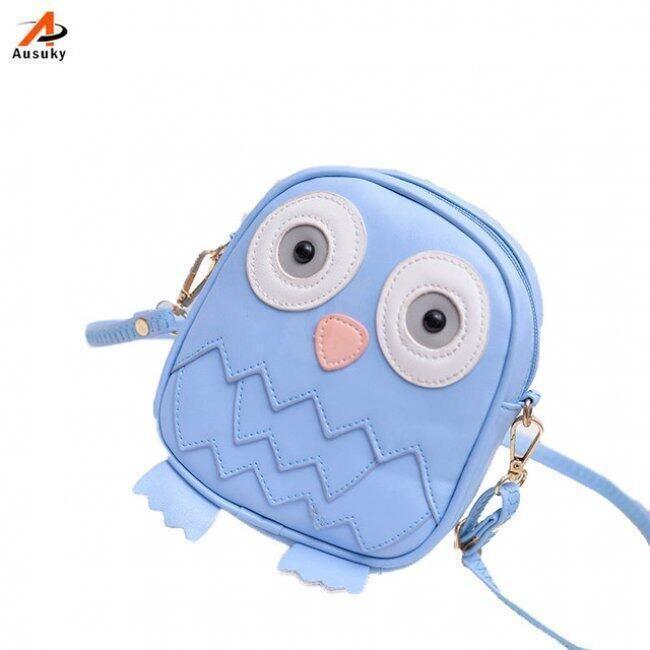 Dívčí mini kabelka v podobě sovičky - Modrá 1